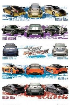 Póster Fast and Furious - compilation