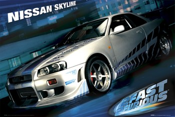 Póster Fast and Furious – skyline