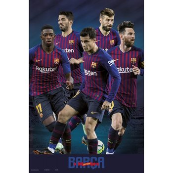 Poster FC Barcelona 2018/2019 - Grupo