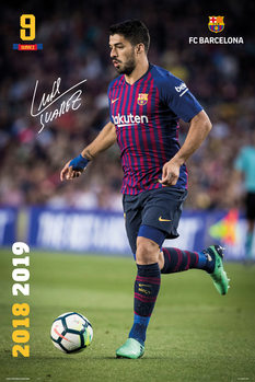 Póster  FC Barcelona 2018/2019 - Luis Suarez Accion