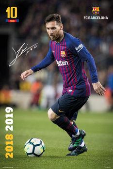 Póster  FC Barcelona 2018/2019 - Messi Accion