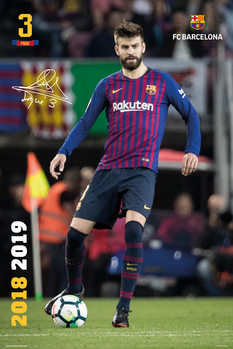 Póster  FC Barcelona 2018/2019 - Pique