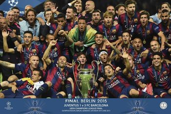Póster  FC Barcelona – Champions equipo 2015