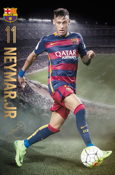 Póster FC Barcelona - Neymar Action 15/16