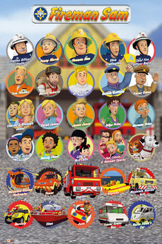 Poster Feuerwehrmann Sam - Characters