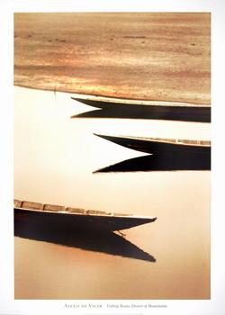 Fishng Boats,Desert/Mauritania Poster / Kunst Poster