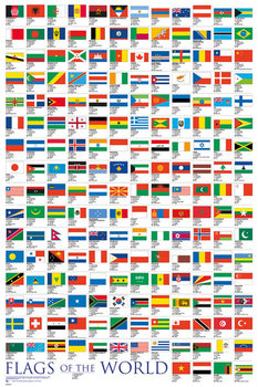 Póster  Flags - Of The World 2017