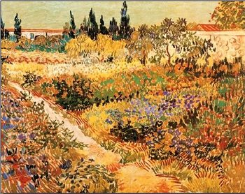 Flowering Garden with Path, 1888 Kunstdruk