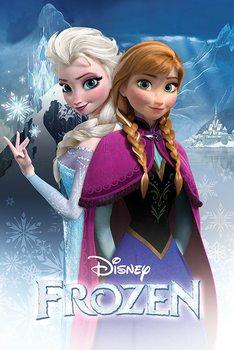 Póster Frozen: El Reine del hielo - Anna and Elsa