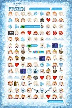 Póster Frozen, el reino del hielo - Told by Emojis