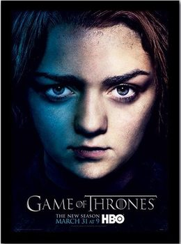 GAME OF THRONES 3 - arya ingelijste poster met glas