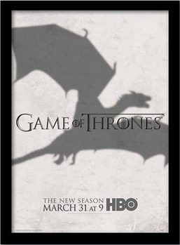 GAME OF THRONES 3 - shadow ingelijste poster met glas