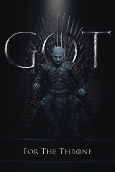Game Of Thrones - Night King For The Throne Poster