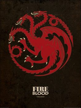 Game of Thrones - Targaryen Kunstdruk