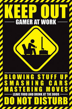 Gamer At Work Poster