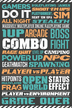 Gaming - Typographic poster, Immagini, Foto