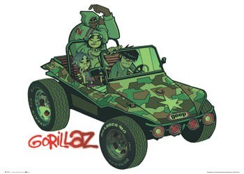 Póster Gorillaz - album