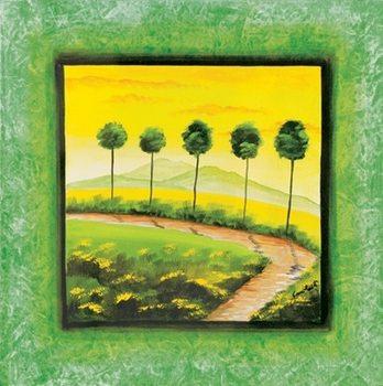 Green Path Kunstdruk
