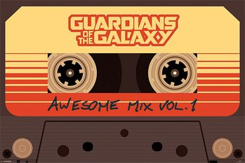 Póster  Guardianes de la galaxia - Awesome Mix Vol 1