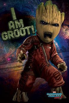 Póster Guardianes de la Galaxia Volumen 2 - Angry Groot