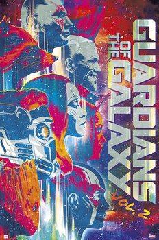 Póster Guardianes de la Galaxia Volumen 2