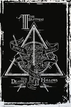 Póster Harry Potter - Deathly Hallows Graphic