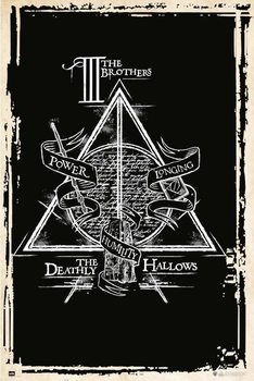 Póster  Harry Potter - Deathly Hallows Symbol