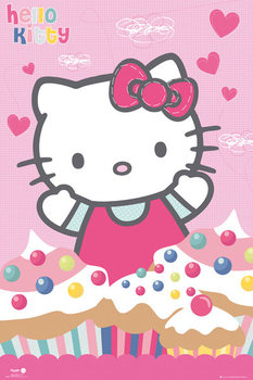 Poster Hello Kitty - Cupcakes
