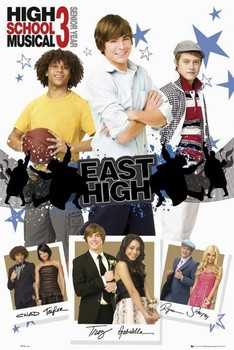 Poster HIGH SCHOOL MUSICAL 3 - boys