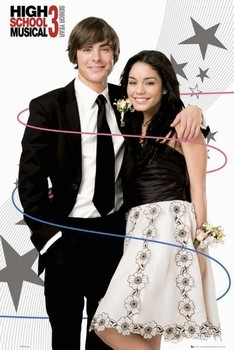 Póster HIGH SCHOOL MUSICAL 3 - troy and gabriella