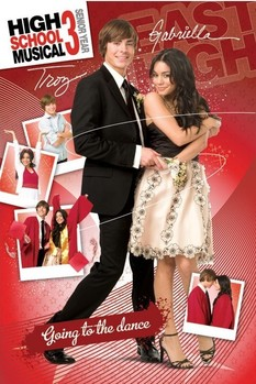 Póster HIGH SCHOOL MUSICAL 3 - troy and gabriella II