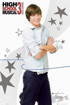 Poster HIGH SCHOOL MUSICAL 3 - troy casual