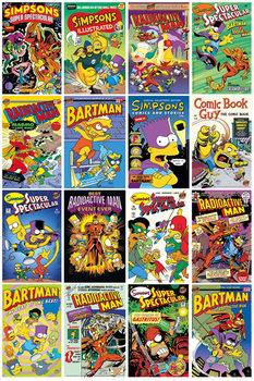 Poster  I SIMPSON - SIMPSONS - Comic Covers