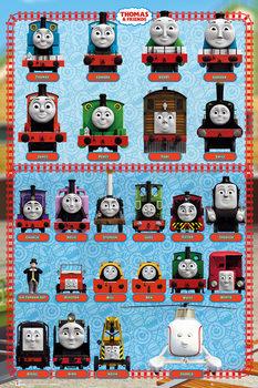 Poster Il trenino Thomas - Characters