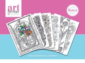 Art Therapy - Flower  Inkleur Poster