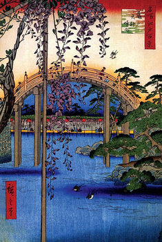 Poster Inside Kameido Tenjin Shrine - Utagawa Hiroshige