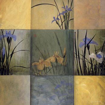 Iris Nine Patch Kunstdruk