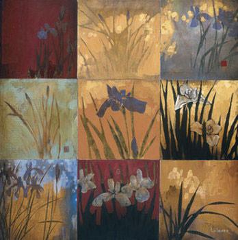 Iris Nine Patch II Kunstdruk