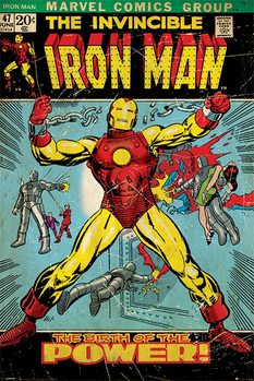 IRON MAN - birth of power Poster / Kunst Poster