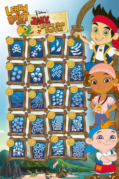 Jake and the Neverland Pirates - Learn to Count With Poster