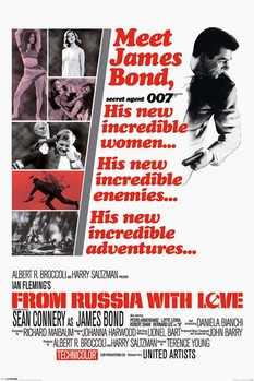 Poster JAMES BOND 007- from russia with love