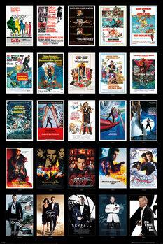 Poster James Bond - 25 Films