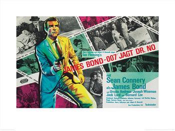James Bond - Dr. No - Montage Kunstdruk