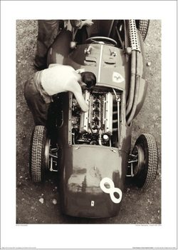 Jesse Alexander - Ferrari Mechanic, French GP, 1954 Kunstdruk