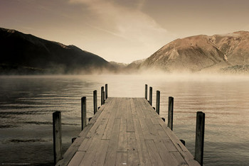 Jetty - lake rotoiti Poster