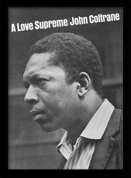 John Coltrane - a love supreme ingelijste poster met glas