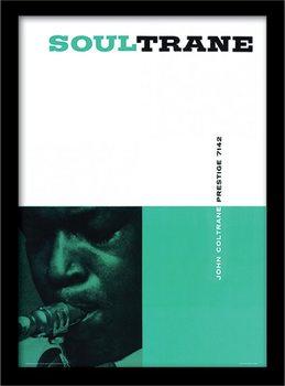 John Coltrane - Soultrane ingelijste poster met glas