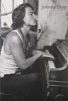 Poster Johnny Depp - Piano