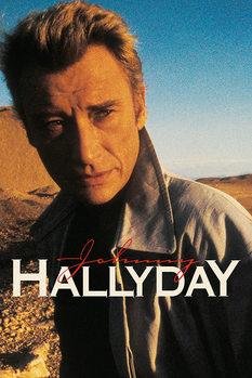 Poster Johnny Hallyday - Desert