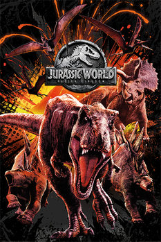 Póster  Jurassic World Fallen Kingdom - Montage